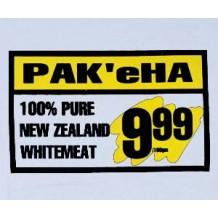 PAK'eHA, 100% Pure NZ Whitemeat. ASH | T-Shirts | Womens T's