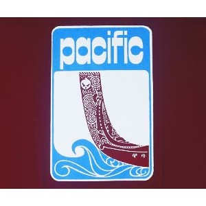 Pacific exercise book logo. MRN