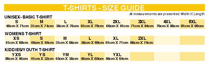 Popohardwear Size Guide